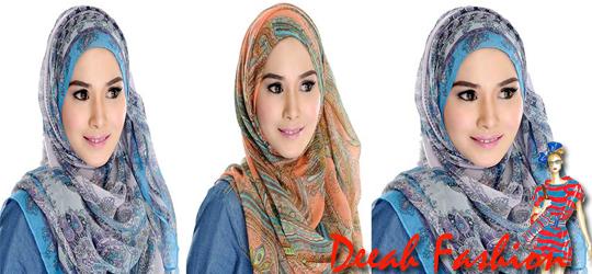 Jilbab Motif Unik Trend Jilbab 2014