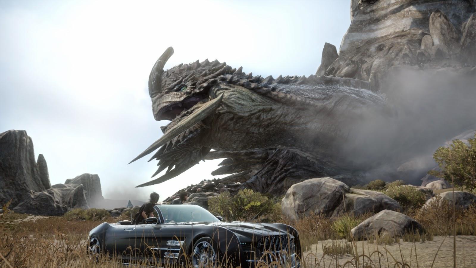 ff15 giga monster giant car japanese tokyo game show