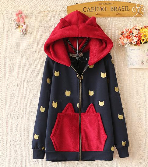 http://cuteharajuku.storenvy.com/products/3708874-kawaii-cat-fleece-hoodie-coat