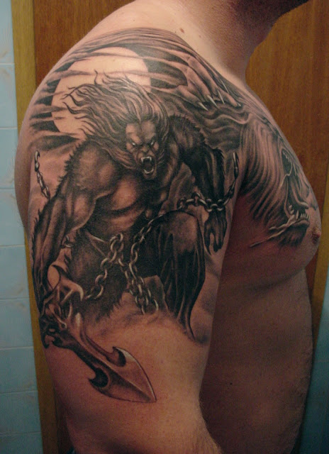Tatuaje de Hombre Lobo