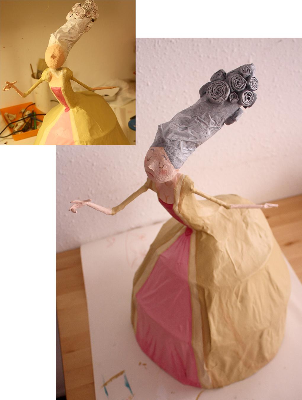 Как из туалетной бумаги сделать куклу 96