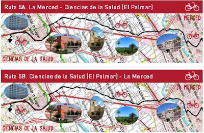 """Al campus pedaleando"" ruta 5A"