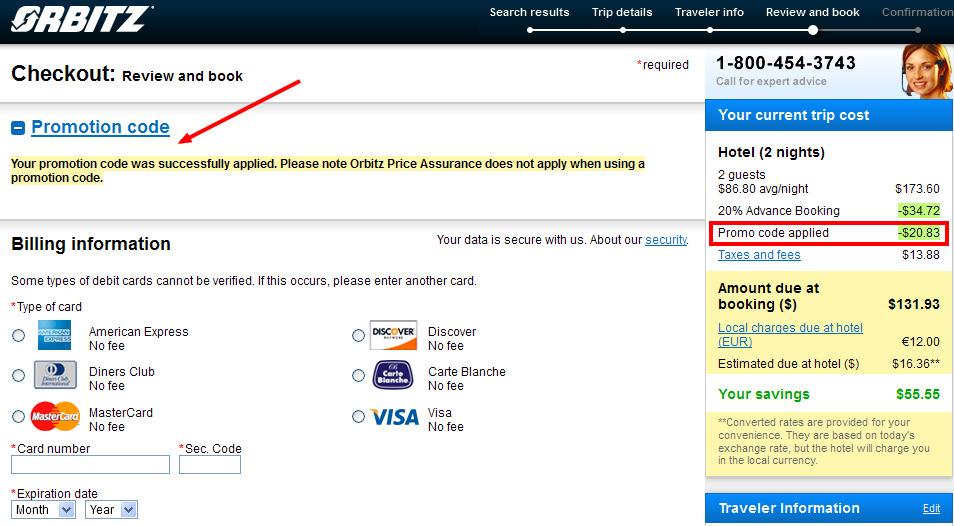 Orbitz com coupon code
