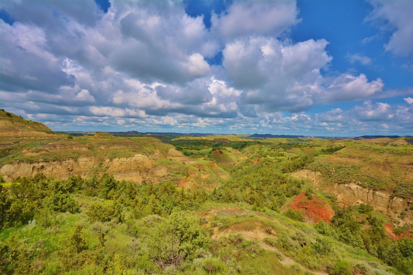 Take a scenic drive through the Badlands of North Dakota in Theodore Roosevelt National Park. #Travel #FamilyTravel