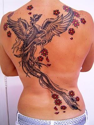 Tatuagens de Fênix Femininas