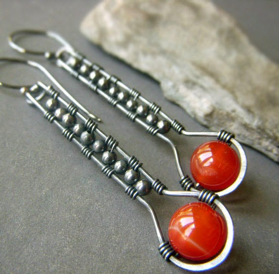 https://www.etsy.com/listing/200955621/carnelian-agate-earrings-on-oxidized
