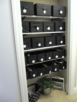 vinyl covered shelves