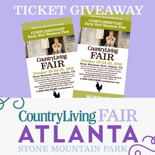 Atlanta, GA Country Living Fair Ticket Giveaway www.pitterandglink.com