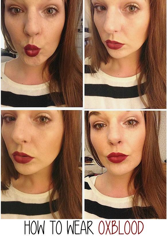 oxblood lipstick, mac studded kiss, punk couture, dark red lip