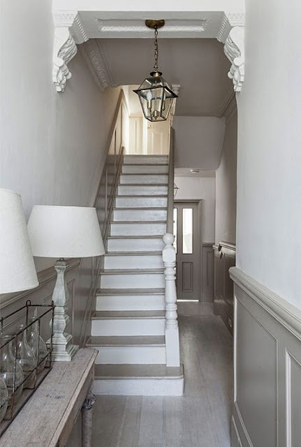 Modern country style swedish french style victorian house Hallway colour scheme ideas