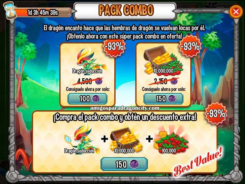 imagen de la oferta especial del dragon seduccion de dragon city