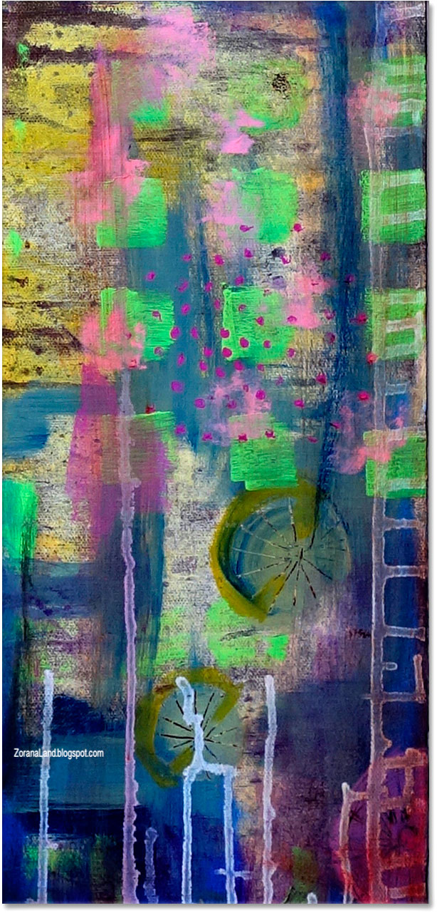 ZORANA art cityscape painting art NYC abstract energy