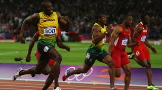Usain Bolt wins the 100-meter dash at the 2012 London Olympics (Photo: BBC)