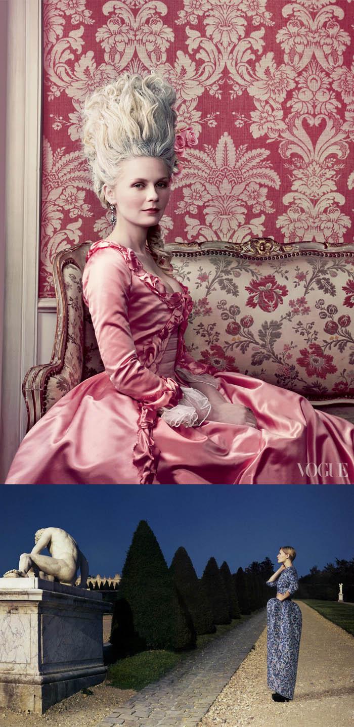 A RAINHA DA MODA_Kirsten dunst_Maria antonieta_ensaio vogue_ensaio fotográfico_annie leibovitz