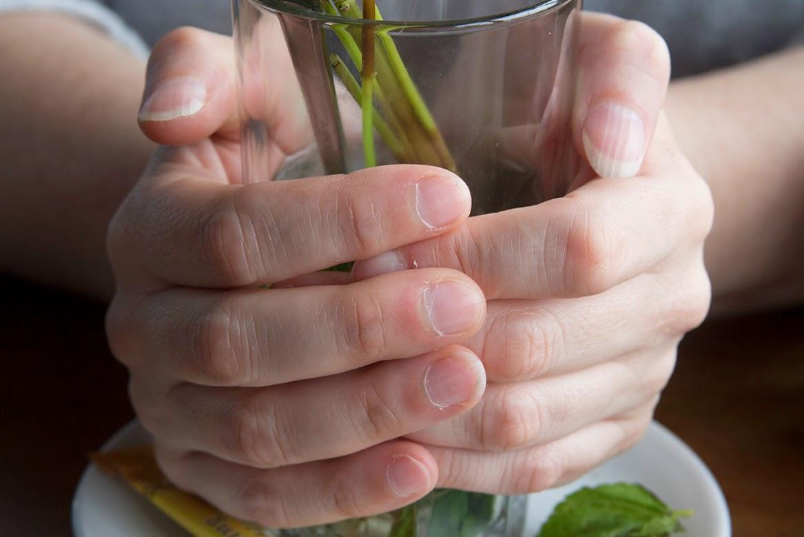 Marielle's hands