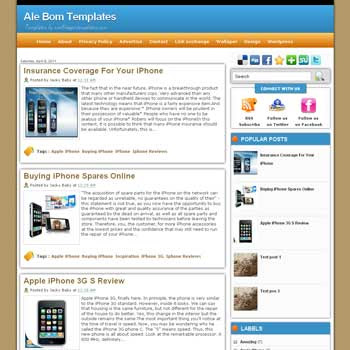 Ale Bom blogger template. template gadget for blogger