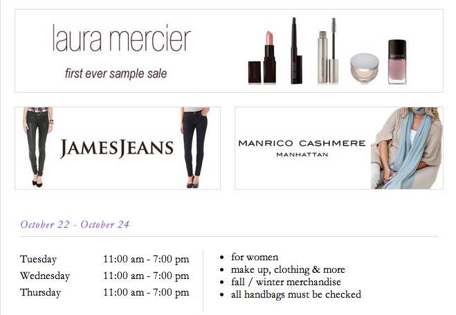 fashionably petite: Clothingline Sample Sales: Laura Mercier ...