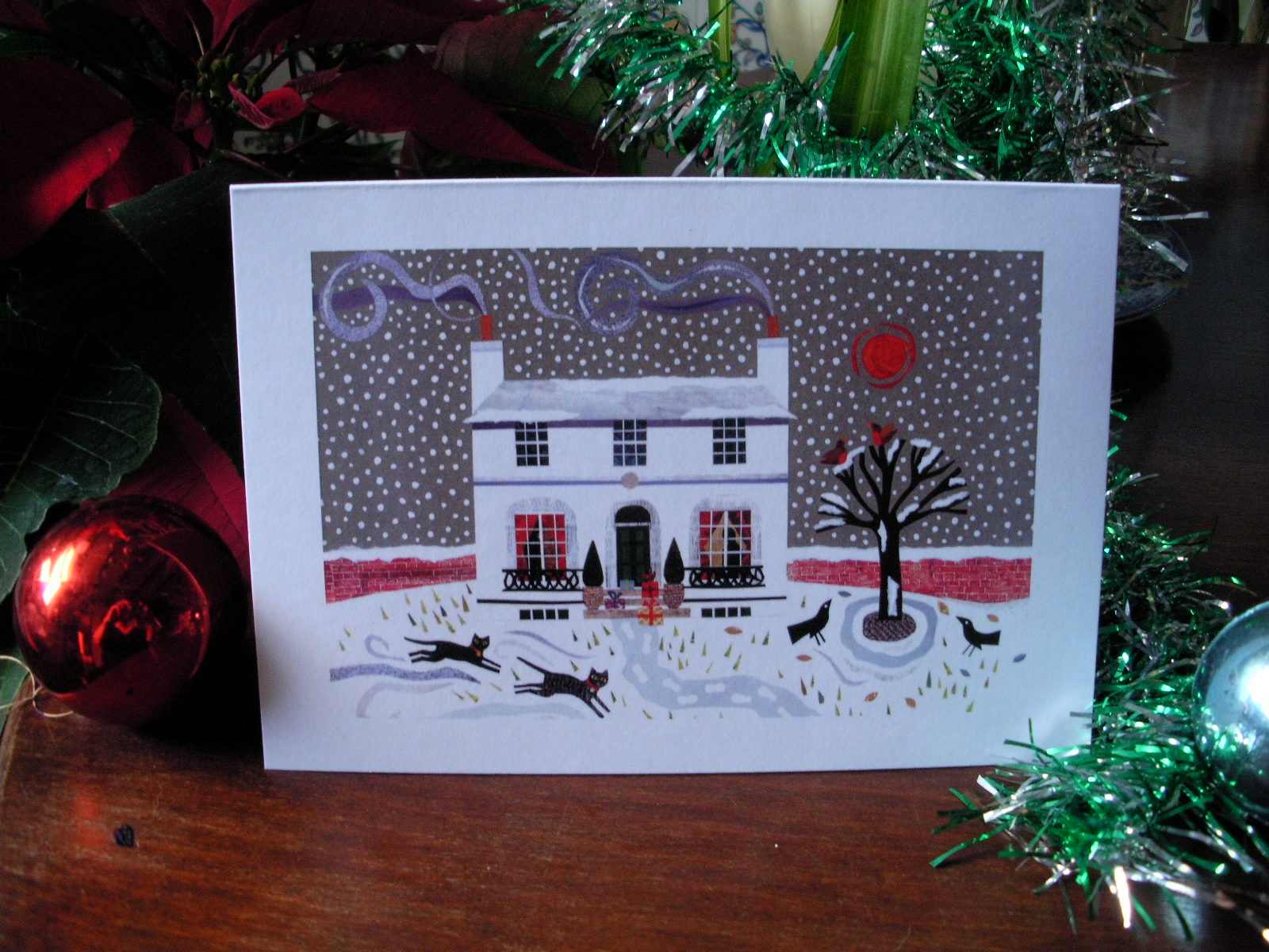 Amanda white contemporary naive art im back with naive this is one of my beautiful if i do say so myself christmas cards hooray which will be in my shop this week solutioingenieria Images