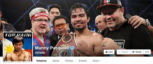 Manny Pacquiao real Facebook page