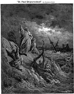 St. Paul Shipwrecked by Gustave Dore