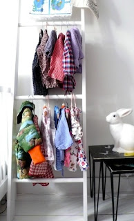 ladder clothes rack