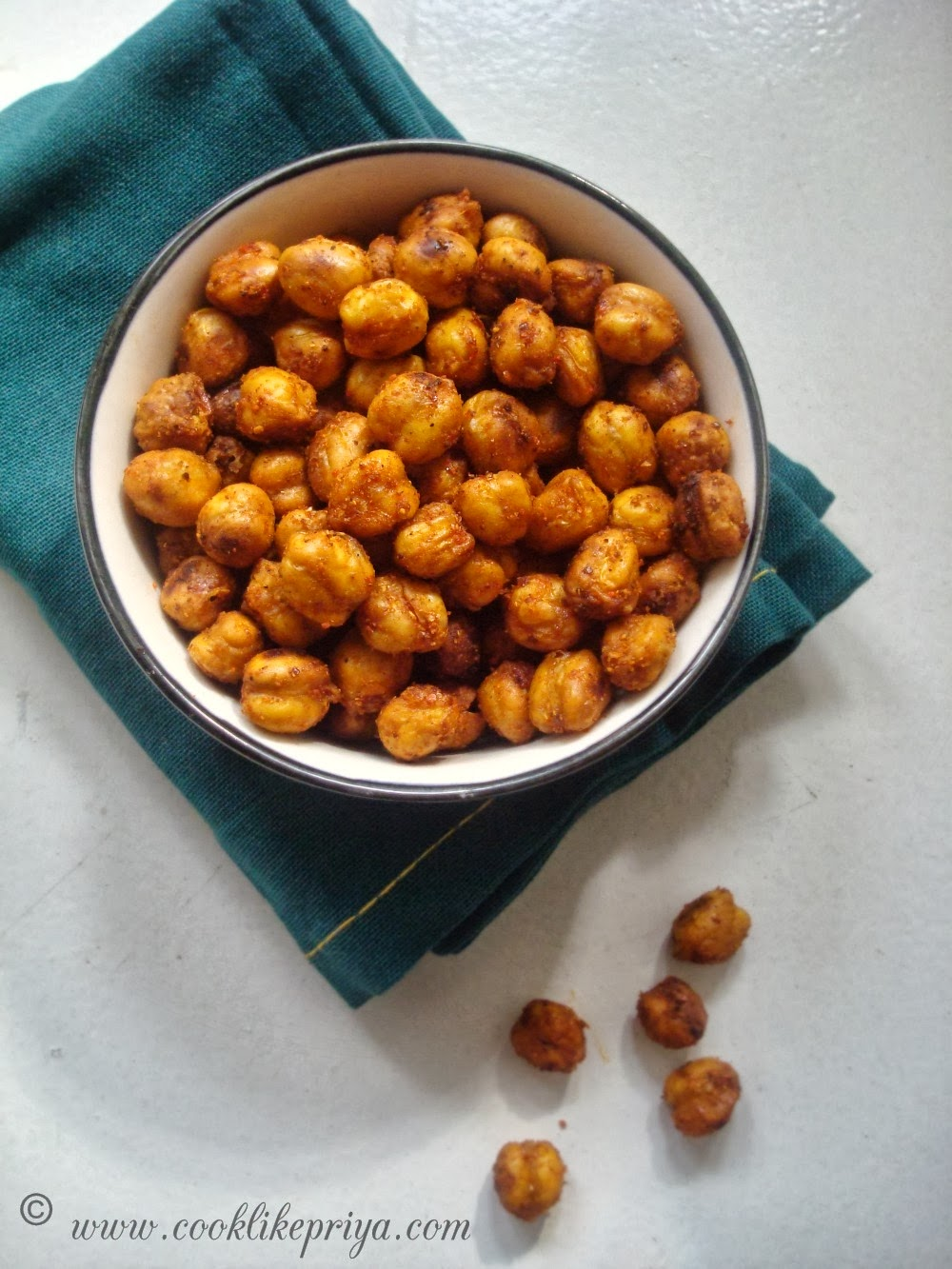 ... Indian Spicy Oven Roasted Chickpeas Recipe | Oven Baked Garbanzo Beans