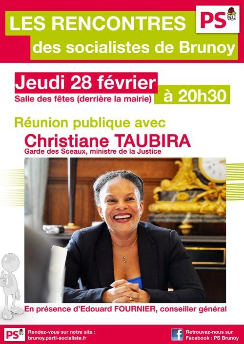 Christiane Taubira à Brunoy