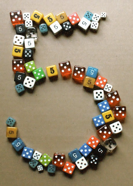 type made from dice