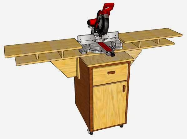 Simply Easy Diy Diy Mobile Fold Down Miter Saw Station