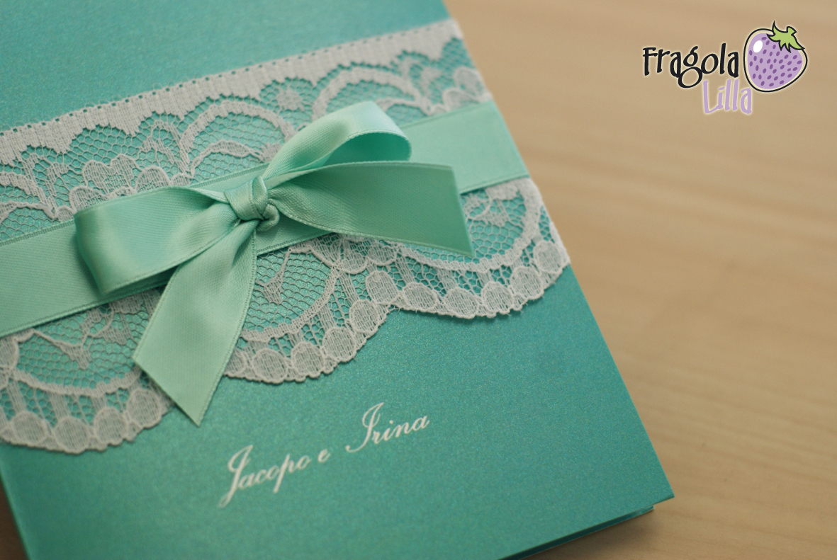 Matrimonio In Verde Tiffany : Fragola lilla modello shabby in verde tiffany