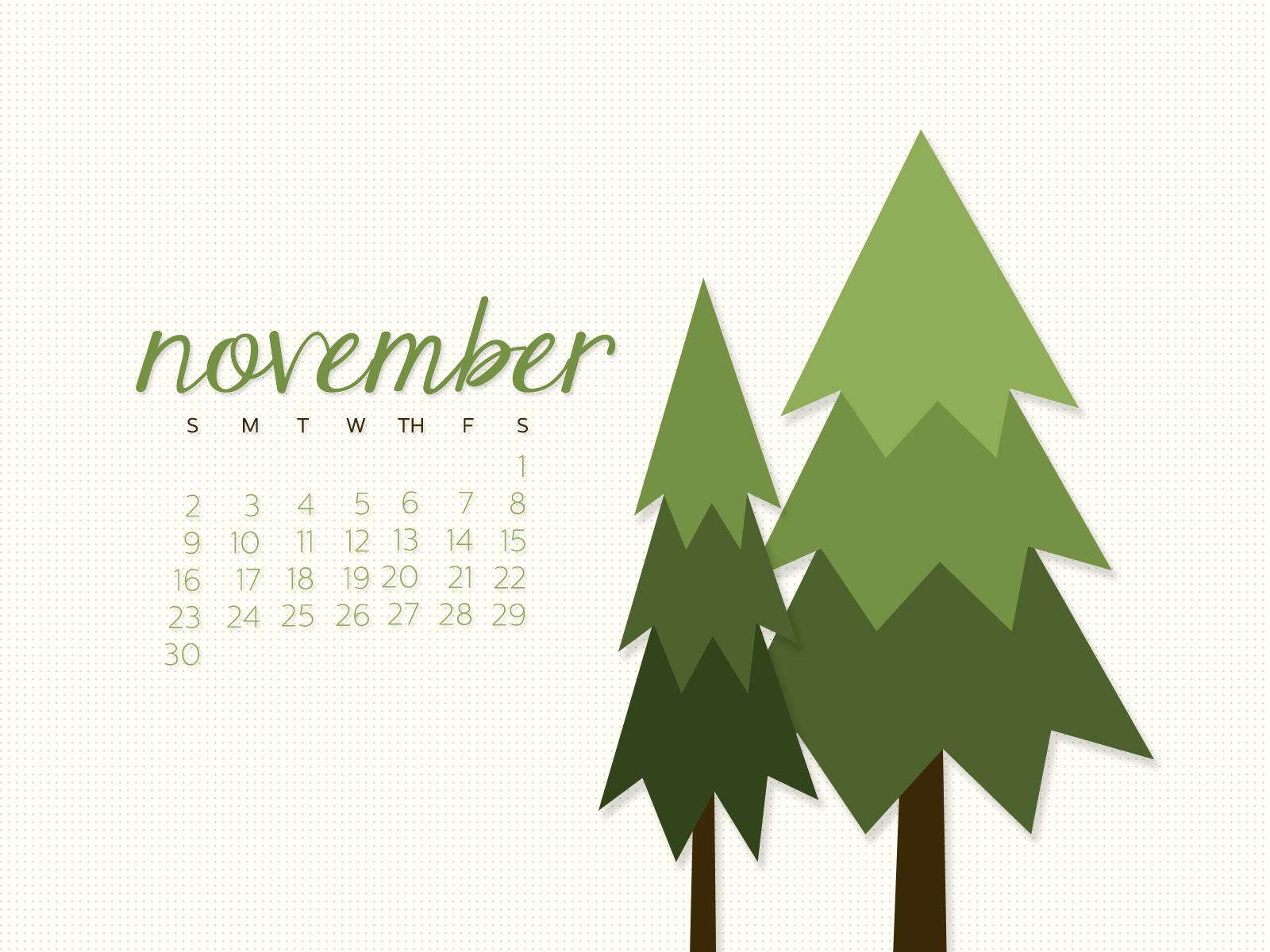 November 2014 Desktop Calendar Wallpaper