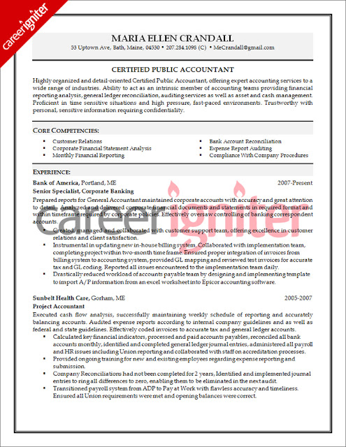 Free Creative Resume Templates For Accountants