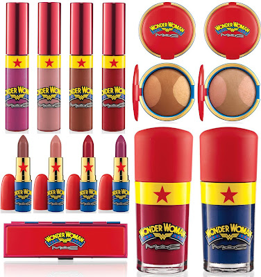 M∙A∙C Cosmetics x DC Comics Wonder Woman Collection - Lipglass, Mineralize Skinfinish, Lipstick, Defiance Eyeshadow Quad & Nail Lacquer