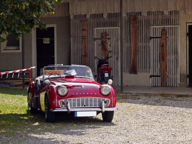 red Triumph TR3
