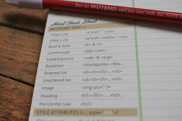 HTML Sheets auf Blogger-Pad