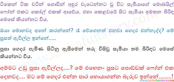 Sinhala Fun Stories-Cat-Part Two