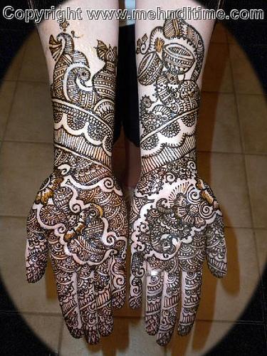 Mehndi style: Arabic Bridal Mehndi Designs