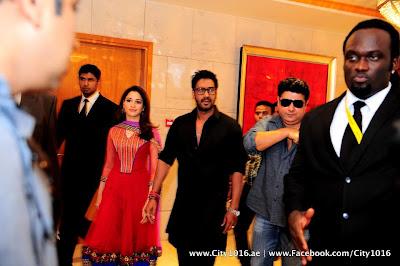 Ajay Devgan & Tamanna at Himmatwala Press Conference in Dubai
