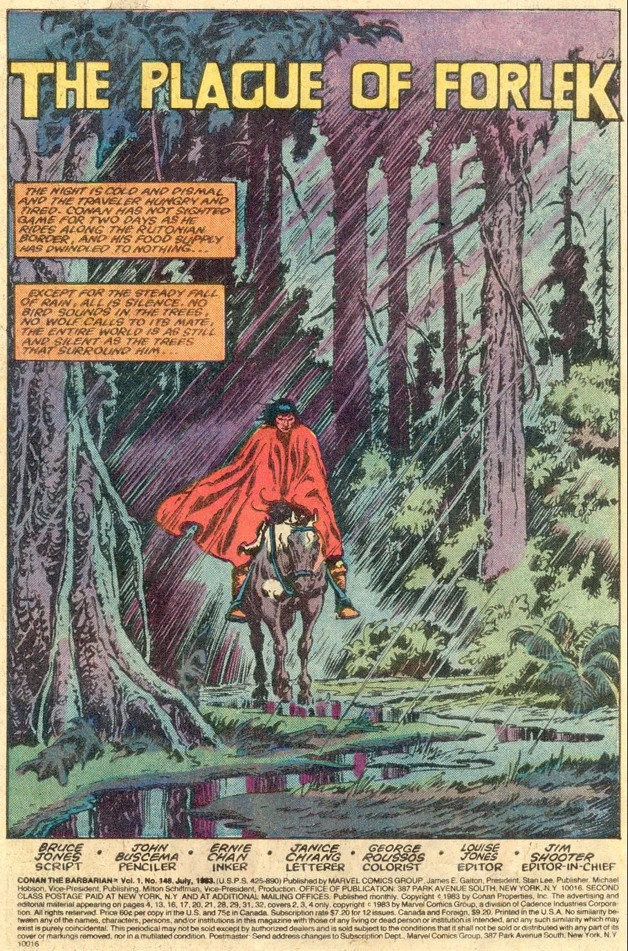 Conan the Barbarian (1970) Issue #148 #160 - English 2