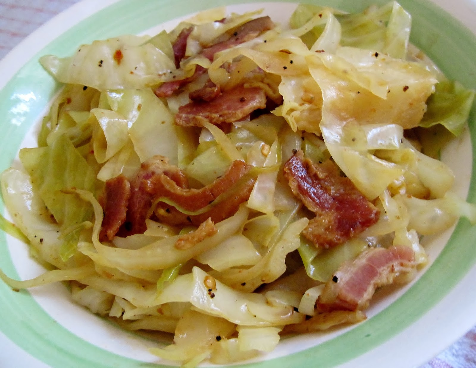 spicy barbecue bacon cabbage