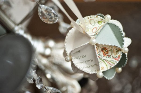 Unique Paper Wedding Christmas Ornament