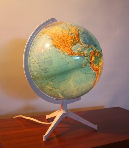 chicbaazar objets vintage 50 60 70 petit globe vintage tripode marque duplex. Black Bedroom Furniture Sets. Home Design Ideas