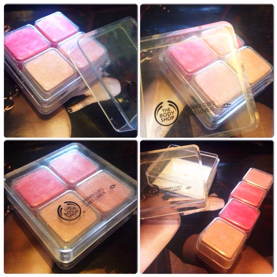 the bodyshop, shimmer cube, hot pink, TBS Review