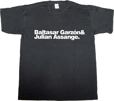 Julian Assange wikileaks baltasar Garzón useless copyright useless Politics spain is different t-shirt ephemeral-t-shirts