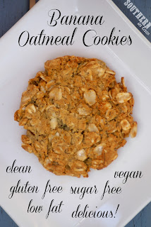 Healthy Banana Bread Cookies - gluten free, low fat, vegan