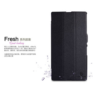 Nillkin Fresh Series PU Leather Cover Case For SONY Xperia Z Ultra XL39H Black