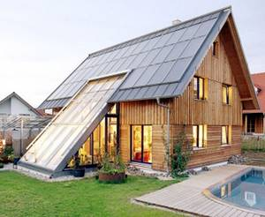 The 100-percent solar house