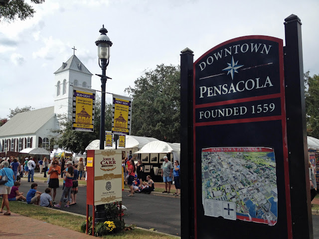 Art Festival in Seville Square in Downtown Pensacola