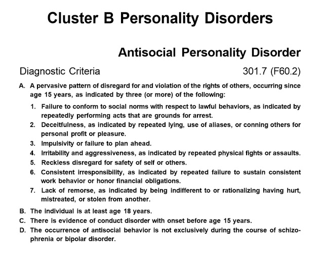 antisocial personality disorder an overview Personality disorders are chronic mental illnesses that can range from mildly personality disorders: an overview with antisocial personality disorder.