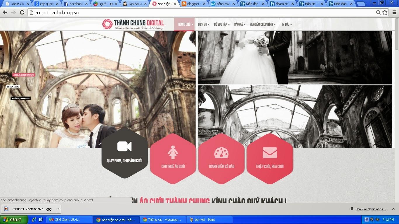 [Thông báo] Bán code aocuoithanhchung.vn Trang+chu
